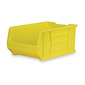 "Hopper Bin, Yellow, 11""H x 29-7/8""L x 16-1/2""W, 1EA"