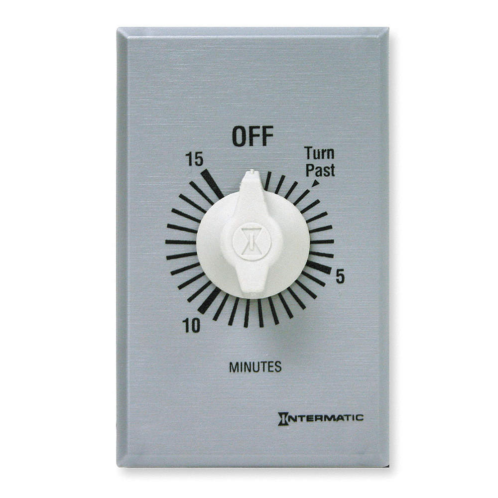 INTERMATIC FF415M Timer,Spring Wound,15 Min,DPST,Silver