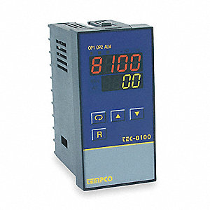 Temperature Controller, 1/8 DIN Size, 90 to 250VAC Input Voltage, Switch Function: SPDT, SPST NO