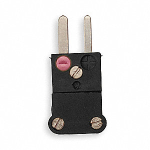 Thermocouple Plug,J,Black,Miniature