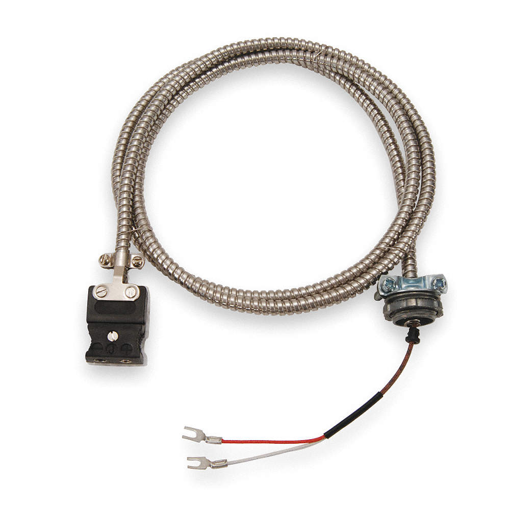 TEMPCO 10 ft. Stranded, Nylon J Wire Thermocouple Cable Assemblies ...