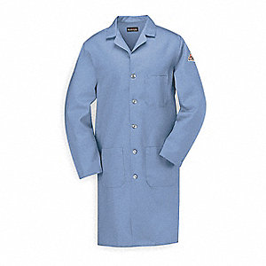 Flame-Resistant Lab Coat,Light Blue,XL
