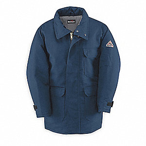 Flame-Resistant Parka,Insulated,Navy,L
