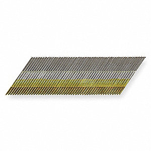 Angled Finish Nail,15ga,2-1/2 In,PK4000