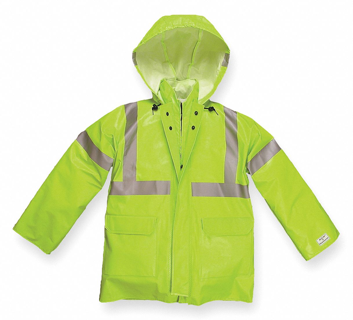 Arc Flash Rain Jacket, PPE Category: 1, High Visibility: Yes, Kevlar(R), Nomex(R) PVC, XL, Yellow/Gr