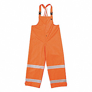 Arc Flash Rain Overall,2XL,HiVis Orange