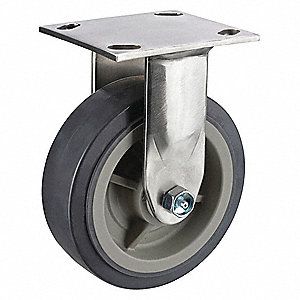 "6"" Medium-Duty Rigid Plate Caster, 1100 lb. Load Rating"