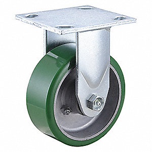 "5"" Medium-Duty Rigid Plate Caster, 1050 lb. Load Rating"