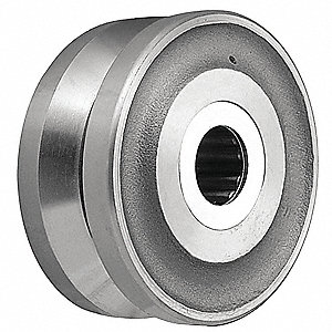 Caster Wheel,2 in. W,Fits 1/2 in. Axle