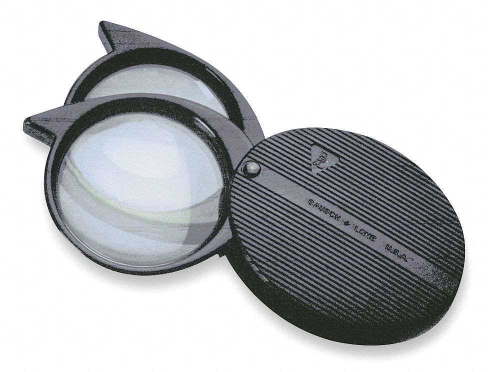 Folding Pocket Magnifier,  Power 4X to 9X,  Focal Distance 1.1 in, 2.5 in,  Lens Diameter 23 mm