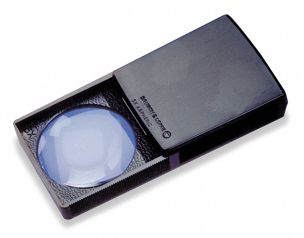 Packette Magnifier,  Power 5X,  Focal Distance 2 in, 5.1 cm,  Lens Diameter 37 mm,  Diopter 20D