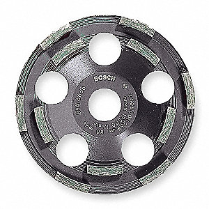 Segment Cup Wheel,Diamond,Double,5x7/8