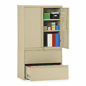 "36"" x 19-1/4"" x 65-1/4"" Combination Cabinet, Putty"
