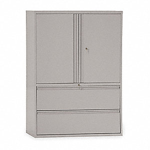 "42"" x 19-1/4"" x 65-1/4"" Combination Cabinet, Light Gray"