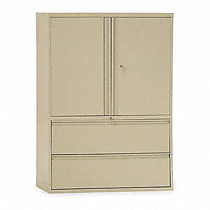Lateral File Cabinet,42In W,2 Drawer,Pty