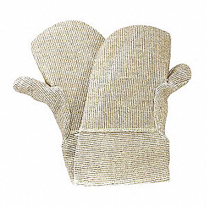 Heat Resistant Mittens, Zetex Plus®, 1000°F Max. Temp., One Size Fits Most, PR 1