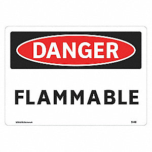 Danger Sign,7 x 10In,R and BK/WHT,FLMB