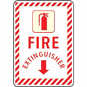 Fire Extinguisher Sign,10 x 7In,FEXT,ENG