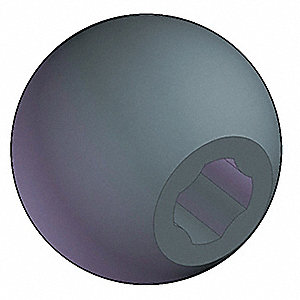 Uni Ball Knob,1 3/8 In,5/16,3/8,M8,M10
