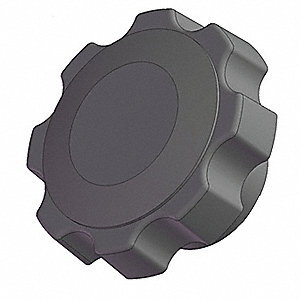 Soft Fluted Knob, 2 1/2 In, Blind, 1/2-13