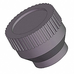 Knurled Knob,1/2 In,Blind,10-24,3/4 In