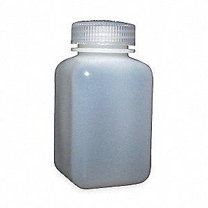 4 oz. Bottle, Wide Mouth, HDPE, EA 1