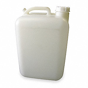 5 gal. Plastic General-Purpose Carboy Rectangular Carboy, Translucent, 1EA