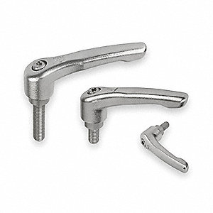 SS Adj Handle,3/8-16,Ext,1.18,3.58,3.33