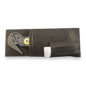 Black Utility Knife Holster, Nylon, Fits Belts Up To (In.): 1-3/4