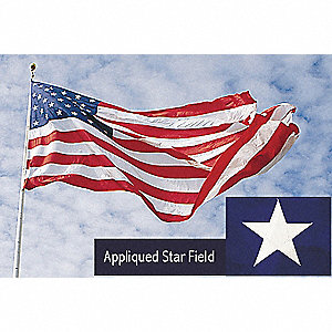US Flag,15x25 Ft,Nylon