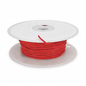 HIGH TEMP LEAD WIRE,20 GA,RED