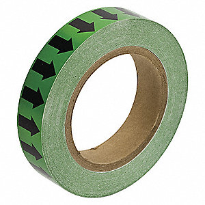 "Arrow Tape, Black/Green, Vinyl, 1"" x 90 ft."