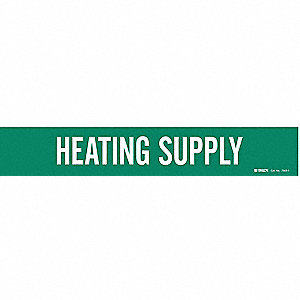 Pipe Mrkr,Heating Supply,2-1/2to7-7/8 In