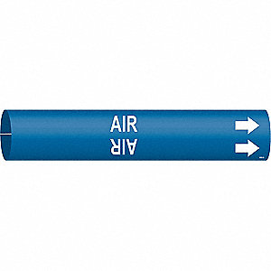 Pipe Marker,Air,Blue,4 to 6 In