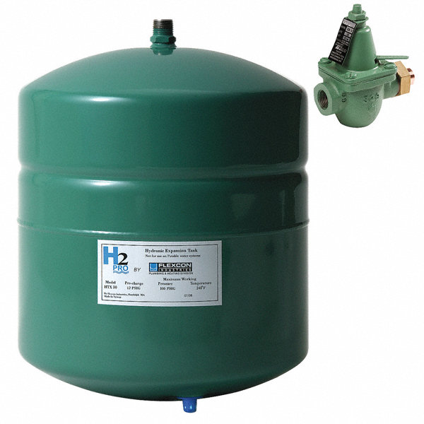 Inline Expansion Tank : Flexcon gal expansion tank with fill valve inline