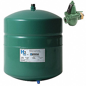 4.5 gal. Expansion Tank with Fill Valve, Inline, Hydronic Type