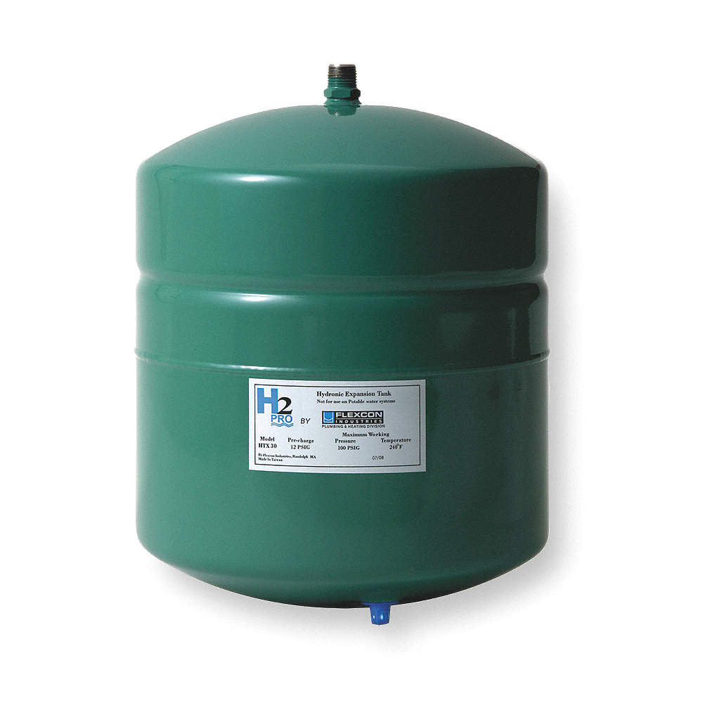 FLEXCON 4.5 gal. Expansion Tank, Inline, Hydronic Type - 3GVU6 HTX ...