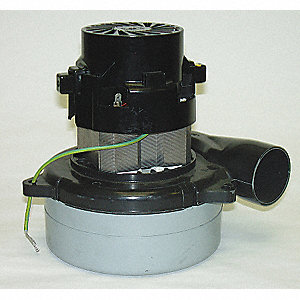 "Tangential Bypass Vacuum Motor, 5.7"" Body Dia., 120 Voltage, Blower Stages: 2"