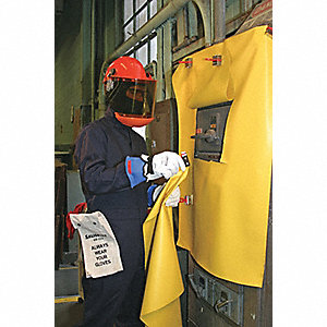 Insulating Roll Blanket,Yellow,Class 0