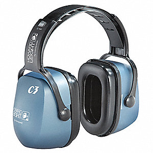 27dB Over-the-Head Ear Muff, Blue&#x3b; ANSI S3.19-1974