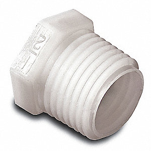 PLUG,THREADED,1 1/2 IN,NYLON