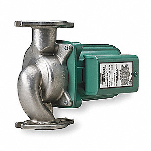 1/6 HP Stainless Steel In Line, Wet Rotor Potable Water Circulating Pump