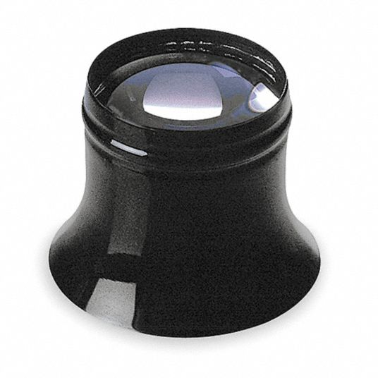 Watchmakers Loupe,  Power 10X,  Focal Distance 1.1 in,  Lens Diameter 25.40 mm,  Diopter 40D