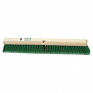 "Flagged Synthetic Push Broom, Block Size 36"", Hardwood Block Material"