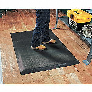 Antifatigue Mat,Black,3ft. x 5ft.