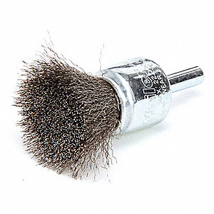 "2-1/4"" Crimped Wire End Brush with Stainless Steel Fill Material and 0.006"" Wire Dia."