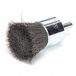 "3"" Crimped Wire End Brush with Carbon Steel Fill Material and 0.006"" Wire Dia."
