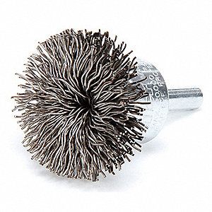 Flared End Brush,Steel,1-1/2 In.