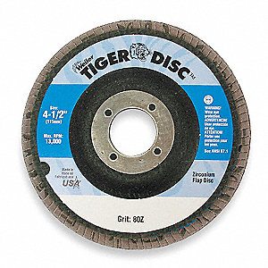 Arbor Mount Flap Disc,4-1/2in,60,Med.