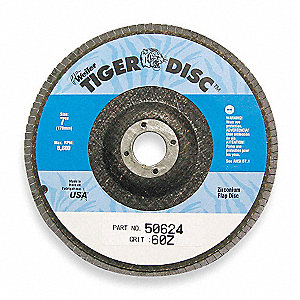 "4-1/2"" Flap Disc, Type 27, 7/8"" Mounting Hole, Medium, 80 Grit Zirconia Alumina, 1 EA"